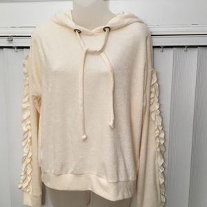 Chloe & Katie cropped sweater with ruffles